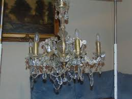 antique crystal glass chandelier 2