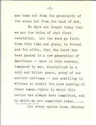 inaugural address john f kennedy presidential  inaugural address 20 1961