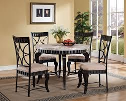 lorencia white marble top round dining set