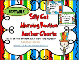 Dr Seuss Inspired Morning Routine Anchor Charts Editable