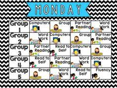 Reading Center Rotation Chart 7 Best Center Chart Images Center Chart Kindergarten