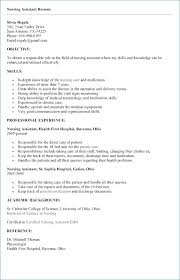 Cna Resume No Experience Beautiful Nursing Assistant Resume Sample