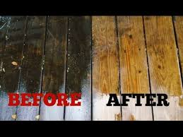 how to clean a wood deck the easy way