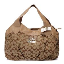 Coach In Signature Medium Camel Hobo BCB