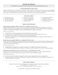Sample Human Resource Resumes Human Resource Resume Example No Experience Sample Hr Resumes