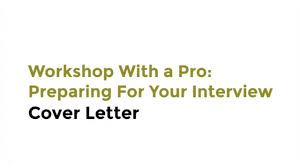 Workshop With A Pro Preparing For Your Interview With Intel
