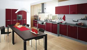 Kitchen Furnitures Red Kitchen Cabinet Red And Black Kitchen Designs Of Nifty Red