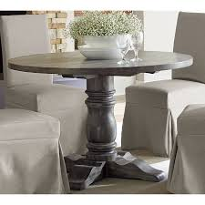 the gray barn alroy downs weathered pepper grey finish round dining table