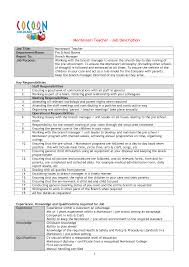 Cover Letter Preschool Director Resume Preschool Teacher Resume