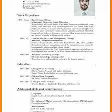 9 Cv English Example Pdf Prome So Banko For Curriculum Vitae In