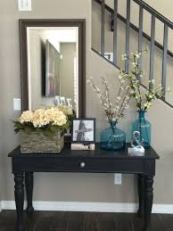 home entrance table. Entry Way Sofa Table. Broyhill Table Repurposed With Annie Sloan Chalk Paint In Black And Clear Wax Home Entrance M