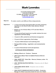 Resume For Video Production Awesome Collection Of Resume Examples For Video Production 17