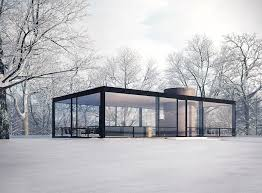 Philip Johnson glass house covered in snow, magical | Glass house design, Philip  johnson glass house, Architecture