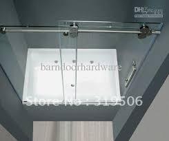 2018 frameless sliding glass shower door full set 304 stainless steel hardware roller from barndoorhardware 281 41 dhgate com