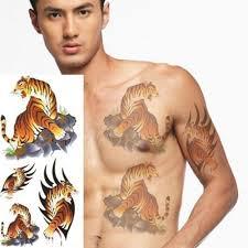Barevné Dočasné Tetování Tygří Sada Poštovnézdarmacz