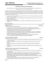 Elementary School Resume Elementary School Principal Resume For Study Shalomhouseus 6