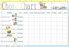 Family Chore Chart List Template For Chore Charts Advmobile Info