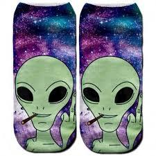 <b>Носки</b> с рисунком пришельца   Пришельцы, <b>Носки</b>