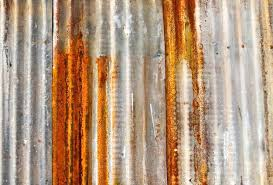 old rusted corrugated metal wall premium photo fence