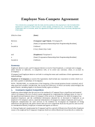 non compete agreement form templates in pdf word excel employee non compete agreement