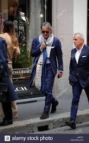 Mailand, Roberto Mancini zu Fuß in der Mitte Roberto Mancini, warten, um  sein neues Team zu coachen, nach Inter, Manchester City, Galatasaray  Istanbul und Inter bis zum letzten Jahr kennen kommt in