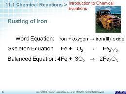 word equation iron oxygen iron iii oxide