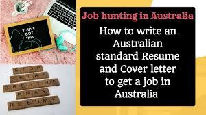 write an australian standard resume