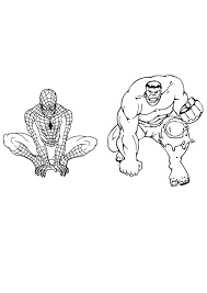 You've come to the right place! Coloring Pages Spiderman Vs Hulk Coloring Page