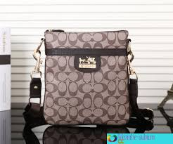 Fashion Men s Coach Messenger Apricot Bags