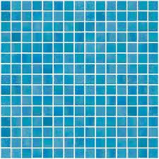 3 4 inch turquoise blue shimmer iridescent glass tile