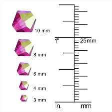 60 Detailed Bicone Bead Size Chart