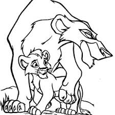 Small Picture Scar Hate Simba The Lion King Coloring Page Scar Hate Simba The