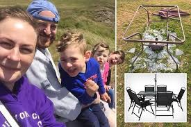 dad reveals shock after asda glass table exploded in his garden during blistering heatwave