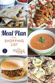 Free Weekly Meal Planner With Grocery List Weekly Meal Plan 1 And Printable Shopping List