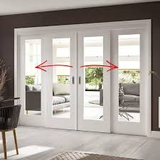 for between open plan tv room easi slide white shaker 1 pane sliding door system in four size widths with clear glass and sliding track frame