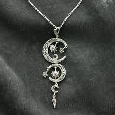 sun moon star pendant necklace the