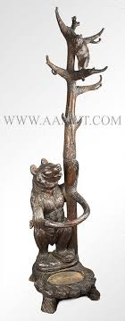 Bear Coat Rack Custom Wood Coat Rack Hall Tree With Umbrella Stand Image Home Garden And