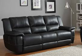 black recliner couch. Unique Black Cantrell Sofa Double Recliner  Black Bonded Leather Match Throughout Couch O