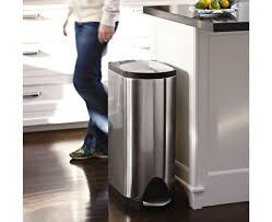 image of stainless home depot trash cans