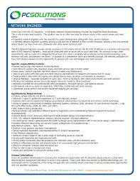 Agreeable Network Engineer Resume Format For Your Cisco Network