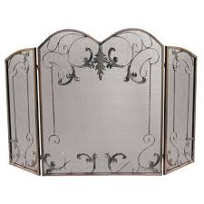 scrollwork leaves three fold fireplace screen venetian bronze fireplace screens fireplace and hearth