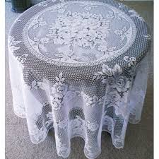 tablecloths victorian rose white 72 round heritage lace