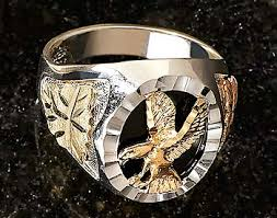 gold silver eagle men s ring