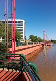 the riverfront in downtown evansville during last summer s ohio river flood