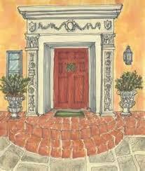 front door drawing. Front Door Drawing Hand A