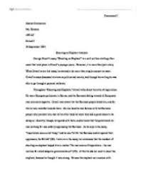 an elephant essay twenty hueandi co an elephant essay shooting an elephant analysis