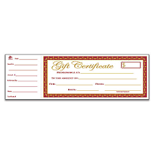 blank printable gift certificates at fice depot ficemax customized gift certificates free