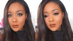 spring 2016 makeup tutorial netrual eyes brown lips makeup for dark