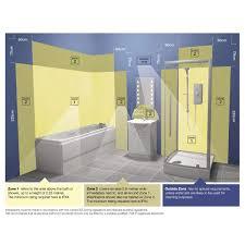 bathroom mirror with lighting. HiB Aztec LED Bathroom Mirror With Shelf · Zones-diagram Lighting