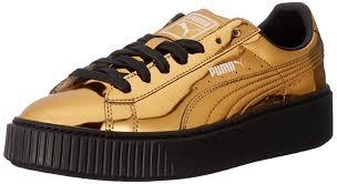 puma shoes rihanna gold. amazon.com | puma women\u0027s basket platform metallic fashion sneaker sneakers puma shoes rihanna gold u